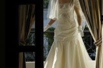 Sposa sulla terrazza