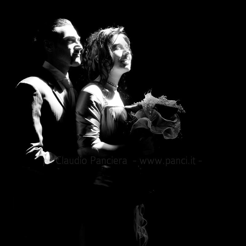 sposi in raggio di sole