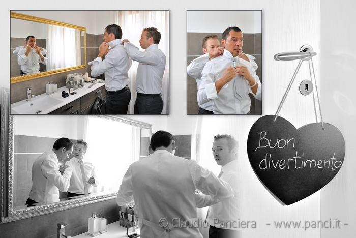 vestizione cravatta sposo