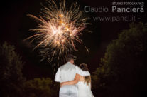 Matrimonio fotografato con fuochi d'artificio